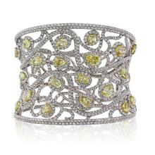 Braceletes De Diamante De Prata De Prata 925 De Diamante Jóias Com CZ