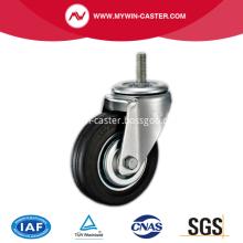 10'' Threaded Stem Swivel Rubber Iron Core Industrial Caster