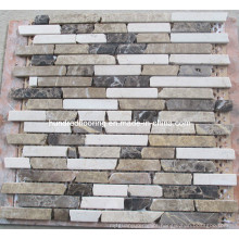 Strip Natural Marble Stone Mosaic (HSM128)