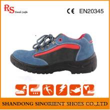 Sapatos de segurança elétrica com couro de boa qualidade RS721