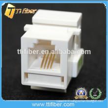 White Color 6P4C Cat3 RJ11 Keytone Jack