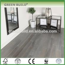Cor cinza tamanho diferente piso de madeira de carvalho maciço