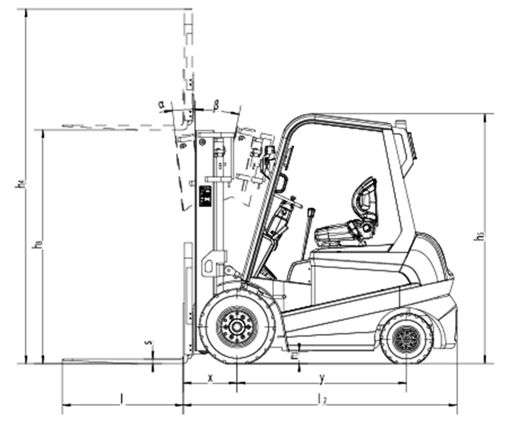 Forklift cut drawing