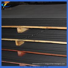 Treillis métallique tissé en acier serti de haute qualité