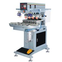 Semi automático cuatro Color impresora de impresión máquina almohadilla del cojín de transportador