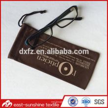 Bolsa superior de la lente del microfiber del grado, bolsa promocional de los eyeglasses del microfiber
