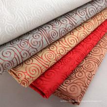Tejido mate de tela de poliéster teñido de colores brillantes para manteles