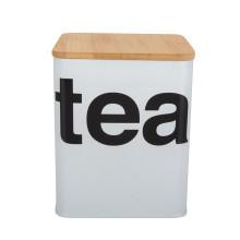 Glas mit Tee-Bild mit Bambusdeckel