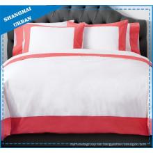 Rose Farbe Wide Border Baumwolle Bettdecke Set