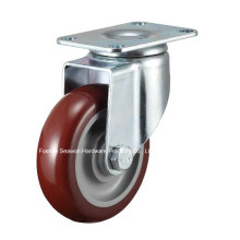 Caster rodillo de poliuretano giratorio de servicio medio