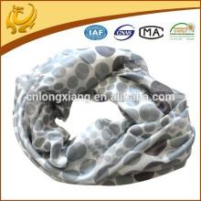 Classic Dot Various Colors Lines Long 100% Chiffon en mousseline de soie Echarpe géométrique pour dames