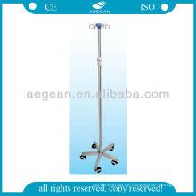 AG-IVP004 CE ISO höhenverstellbare 5 Rollen medizinische Möbel einfache Infusionsständer