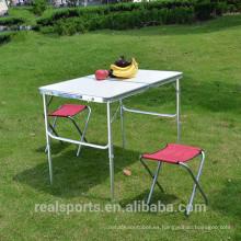 Niceway plegables mesa de comedor con sillas de venta caliente plegable mesa de camping de alta calidad mesa de comedor plegable