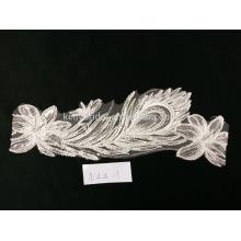 Fabricante de renda de fábrica com tamanhos personalizados tecido de renda de bordado branco guipure