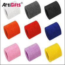 Disponible en différentes couleurs fashional personnalisé tissu éponge bracelet