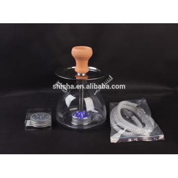 cachimbo de plástico portátil barato shisha com LED