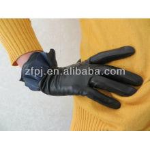 El cuero más nuevo 2012 de los guantes del borde de la falda del estilo