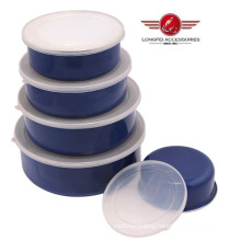 2014 Best Selling Enamel Storage Box with PP Lid