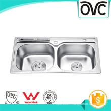 Bol profond bol double facile à nettoyer évier de cuisine avec une bonne qualité Bol profond bol double facile à nettoyer évier de cuisine avec une bonne qualité