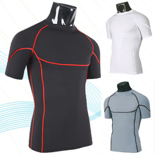 Men Short Sleeve Training Wear for Winter Compression Sportswear
