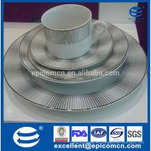 Joyería de cerámica de cerámica de cerámica de lujo de la alta calidad 2015 plato de lujo de la cena de la porcelana