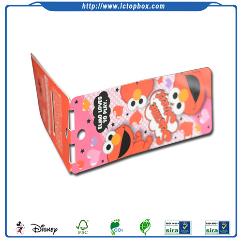 Folded offset printing toys paper swing tag