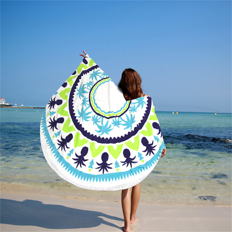 Beautiful Colorful Round Beach Towel
