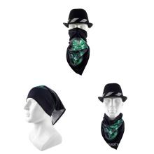High quality wholesale unisex custom logo sport triangular bandana for outing