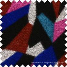 Tissu en laine de laine colorée pour le manteau de mode