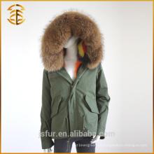 Venta al por mayor de la fábrica al por mayor de Real Coats de piel de zorro Parka