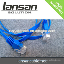 LANSAN High speed flat cat5 network cable CE UL CMR CMP ISO ANATEL APPROVAL