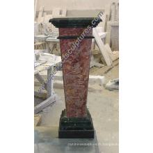 Pedestal en pierre de granit en pierre pour la sculpture busteuse (BA060)