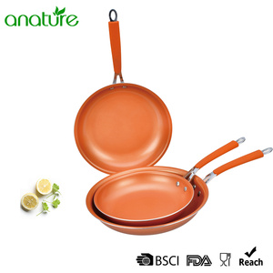 China Top 10 for Pressed Aluminum Cookware Pressed Copper Aluminum Titanium Ceramic Frying Pan export to Solomon Islands Exporter