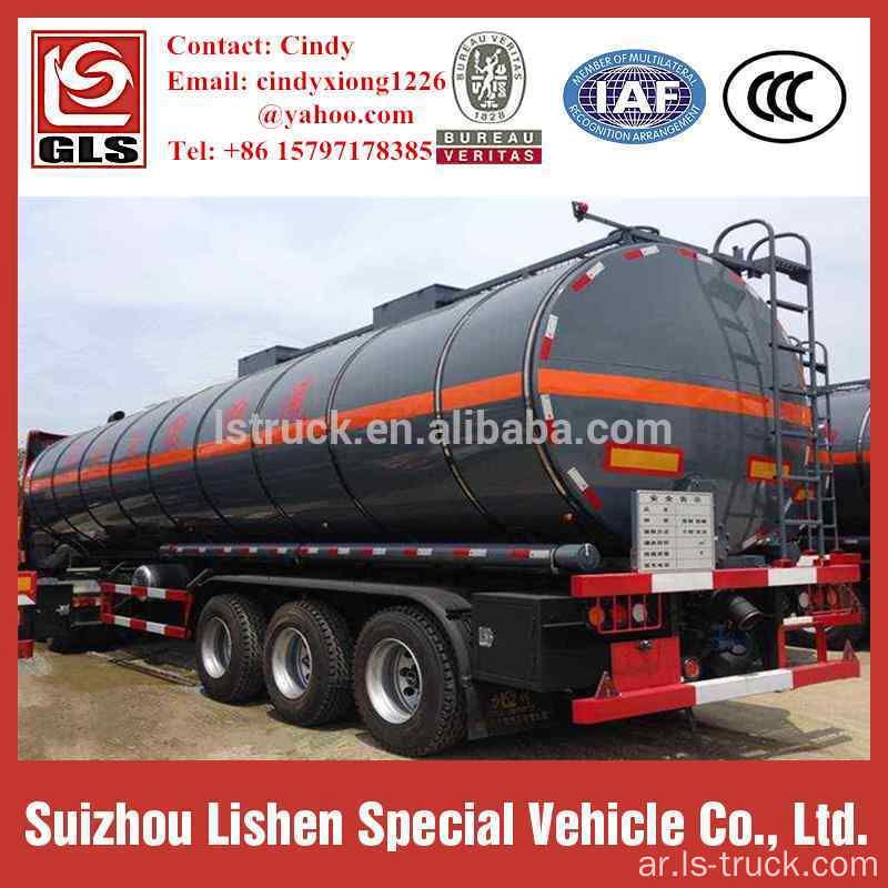 40000 Liters Carbon Steel Insulation Asphalt tank مقطورة