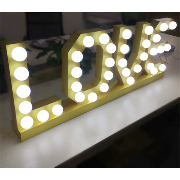 Light Up Love İşaretler Marquee Letter