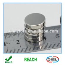 revêtement de nickel n35 ronde aimant publicitaire de forme