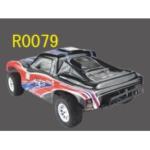 Juguete del RC para niños, 1:10 eléctricos curso corto carro, coche del rc 4WD cepillado