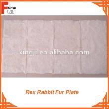 Para o vestuário Rex Rabbit Fur Plate