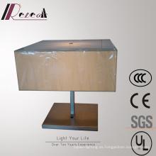 Mesa de noche decorativa de la sombra de la tela de la sala de estar / lámpara de escritorio
