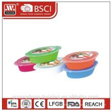 Plastic redondo microondas comida Container(1.75L/2.4L)