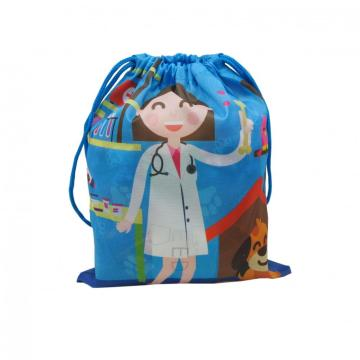 BLUE DRAWSTRING BAG -0