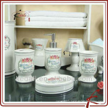 ceramic bathroom set, porcelain bathroom set, bathroom accessories