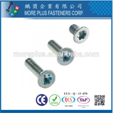 Taiwan M4X18 Zinc Parede parcial Torx Flange Head Screws Security Screw
