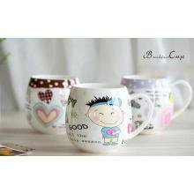 Copas de cerámica promocionales con impresión de cartón para regalos