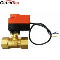 Gutentop Stainless Steel Electric motor ball valve Actuator 2 way 5V,12V, 24V,110V, 220V Motorized Brass Ball Valve