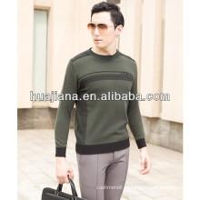 Camisola de cashmere masculina de jacquard 2015