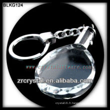 K9 Vierge Cristal Ovale Porte-clés pour la gravure au laser BLKG124