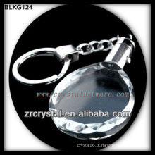 K9 Chaveiro de cristal oval em branco para gravação a laser BLKG124