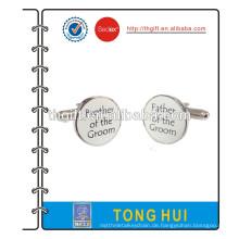 Metall-Manschettenknopf mit Seidendruck-Logo-Design