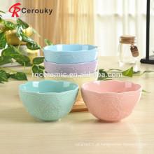 Nova porcelana de porcelana bowl tigela de grés